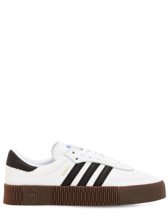 d3d20b5e2d0 adidas Originals. Women s White Samba Rose Textured-leather Platform  Sneakers