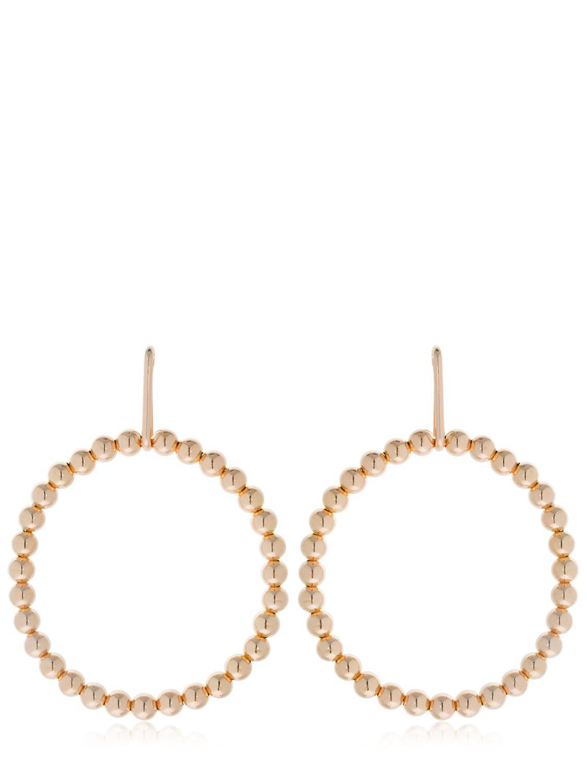 Saskia Diez Liquid Hoops No1 18-karat Gold-plated Earrings qV5lxDXS