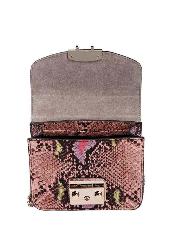 Furla Pink Metropolis printed leather bag uF7WQqN
