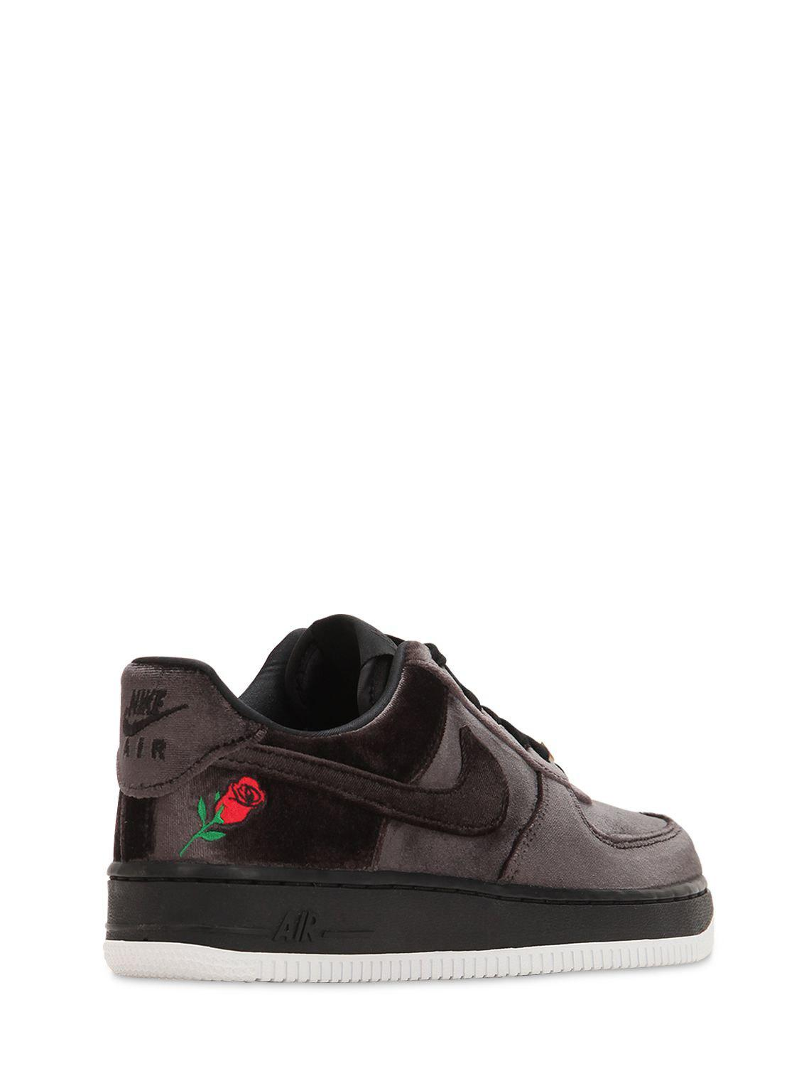 Lyst - Nike Air Force 1  07 Qs Black Velvet Sneakers in Black for Men 0731d74ed