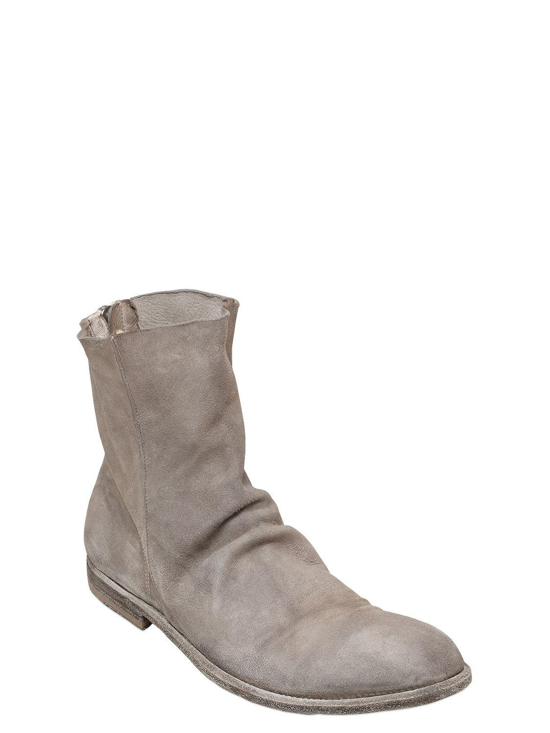 Officine creative WASHED LEATHER CROPPED BOOTS sgvgmRA