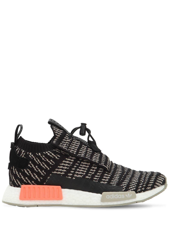 hot sale online 26539 9ca6d adidas Originals. Mens Black Nmd Ts1 Primeknit Sneakers