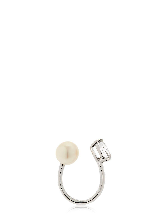 Perle rare pave yellow ear cuff - Metallic Anissa Kermiche tDA5Ktq