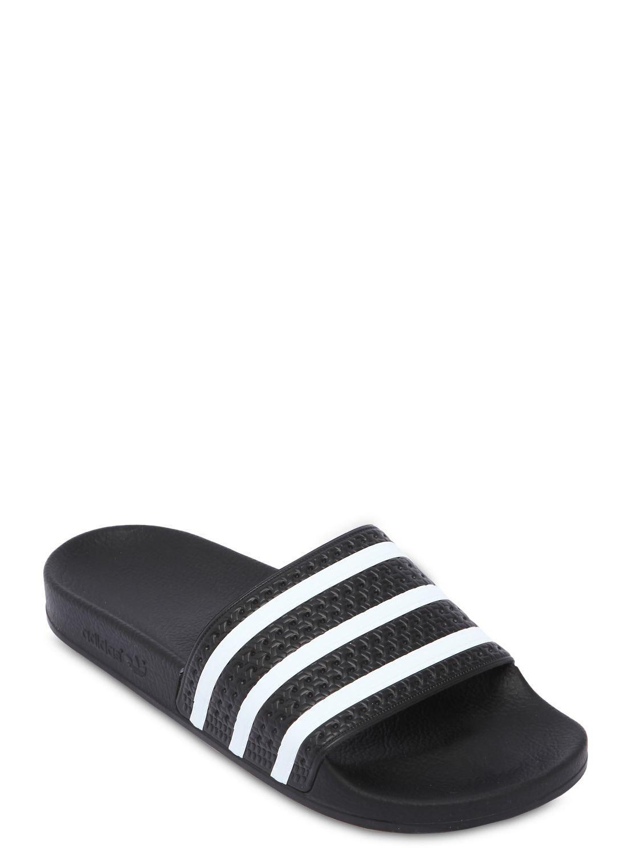 f5c9e2bb77d9c3 Adidas Originals - Black Adilette Slide Sandals for Men - Lyst. View  fullscreen