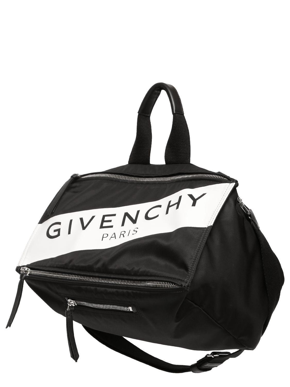 00763a485b Givenchy - Black Pandora Logo Printed Nylon Bag for Men - Lyst. View  fullscreen