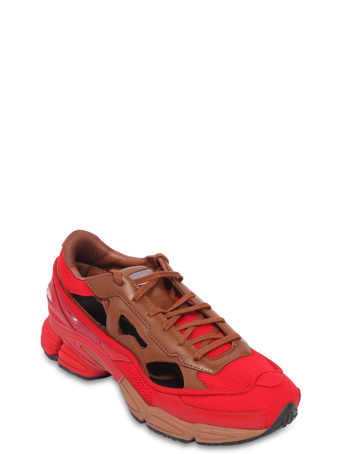 dbd65acf54bd Adidas By Raf Simons - Red Rs Replicant Ozweego Sneakers   Socks for Men -  Lyst. View fullscreen