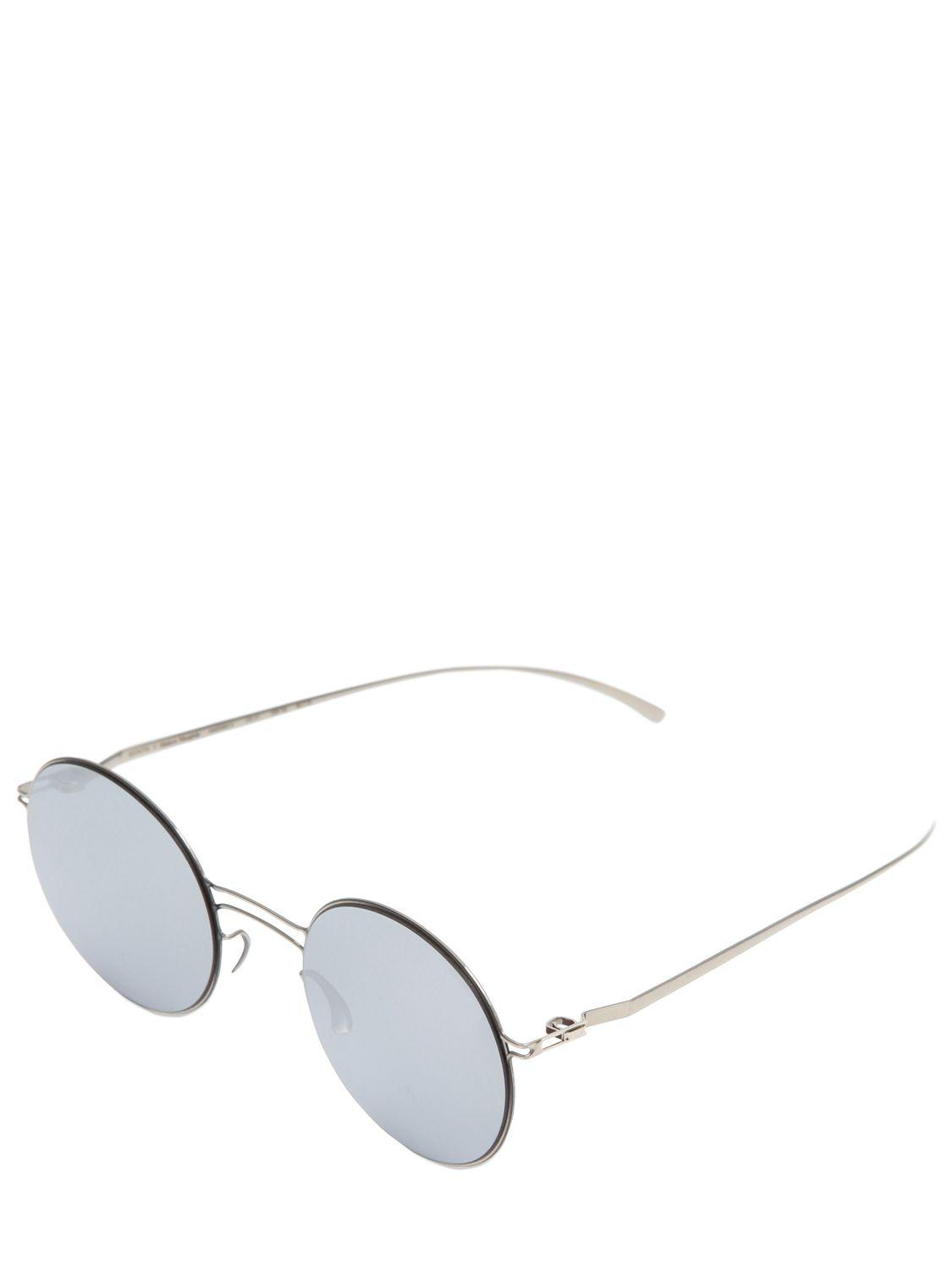 41c83591ac4 Mykita - Metallic Margiela Round Mirrored Sunglasses for Men - Lyst. View  fullscreen