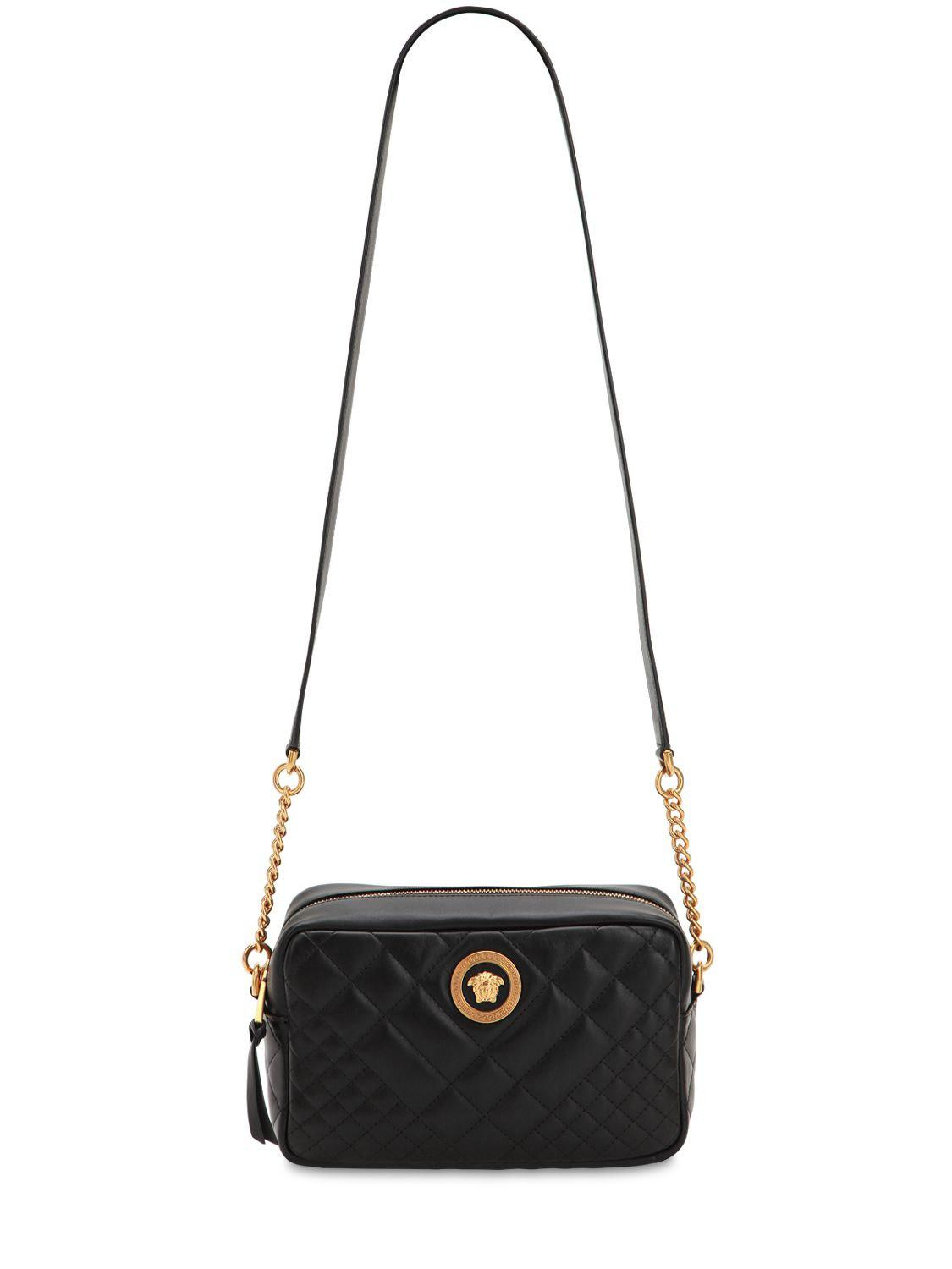 401de8faed Versace - Black Icon Medium Quilted Leather Camera Bag - Lyst. View  fullscreen
