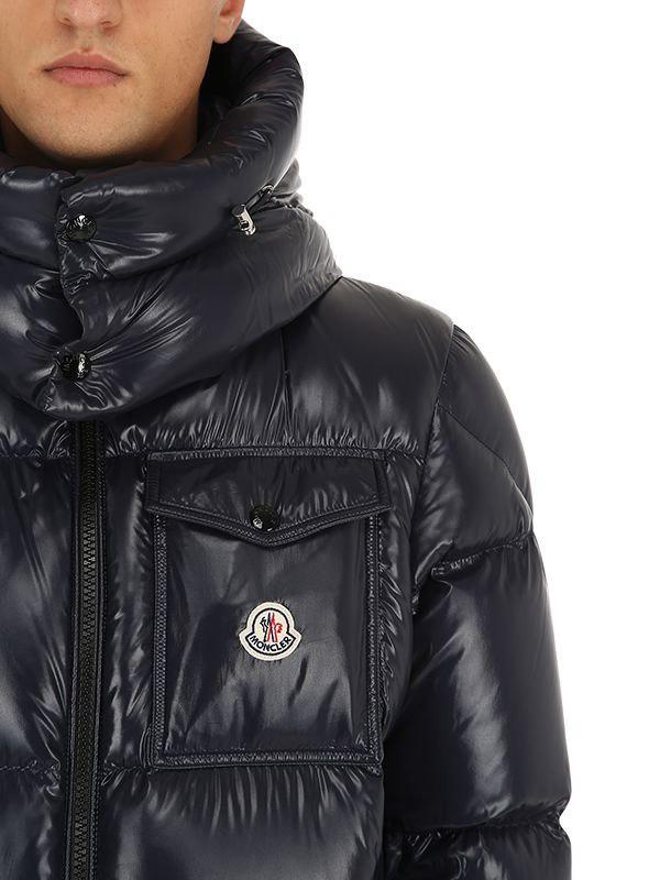 4e63cf500 Lyst - Moncler Montbeliard Nylon Laqué Down Jacket in Blue for Men