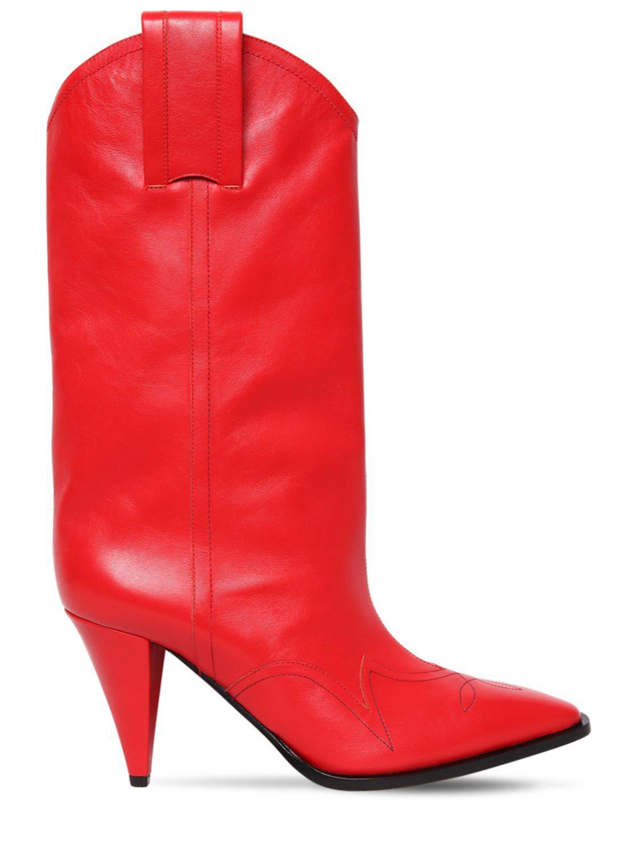 60c457f5 Botas Cowboy De Piel 90mm Nina Ricci de color Red. Ver en pantalla completa