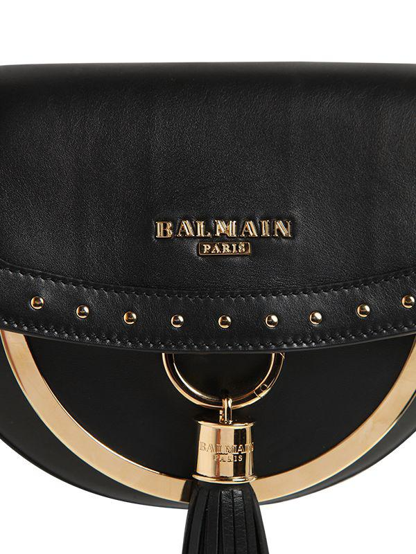 Balmain DOMAIN 18 GLOVE LEATHER SHOULDER BAG q2X5I9N