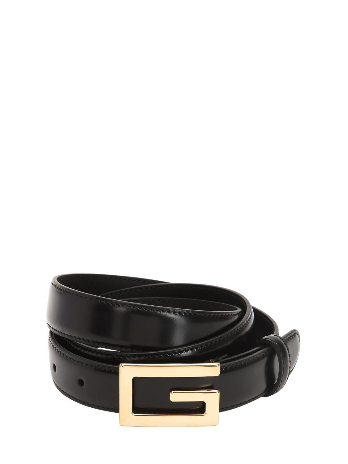 b5f42f8186e Gucci 25mm G-cube Leather Belt in Black for Men - Lyst