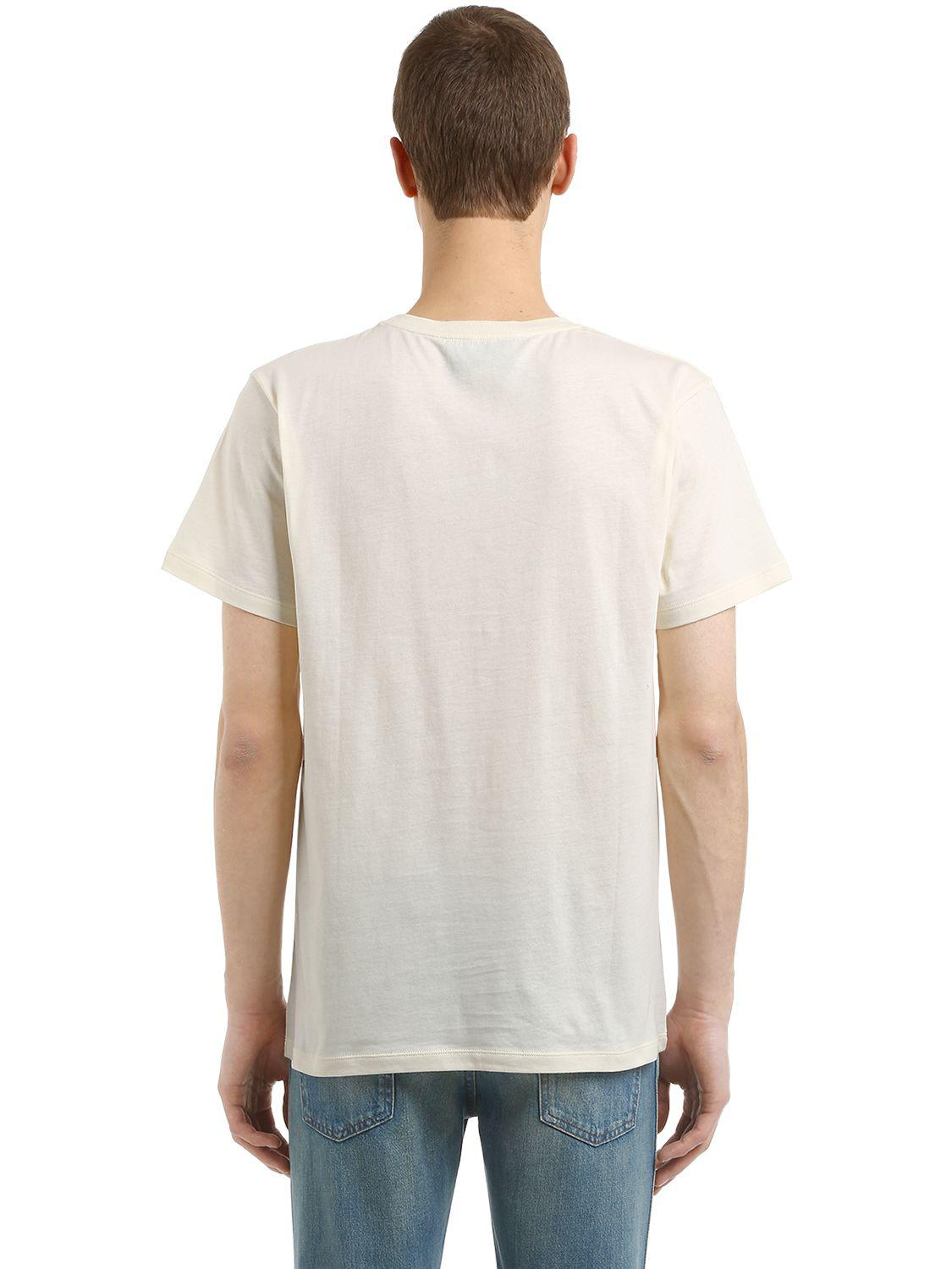 766e02b3 Gucci Fy Bat Print Cotton Jersey T-shirt in White for Men - Lyst