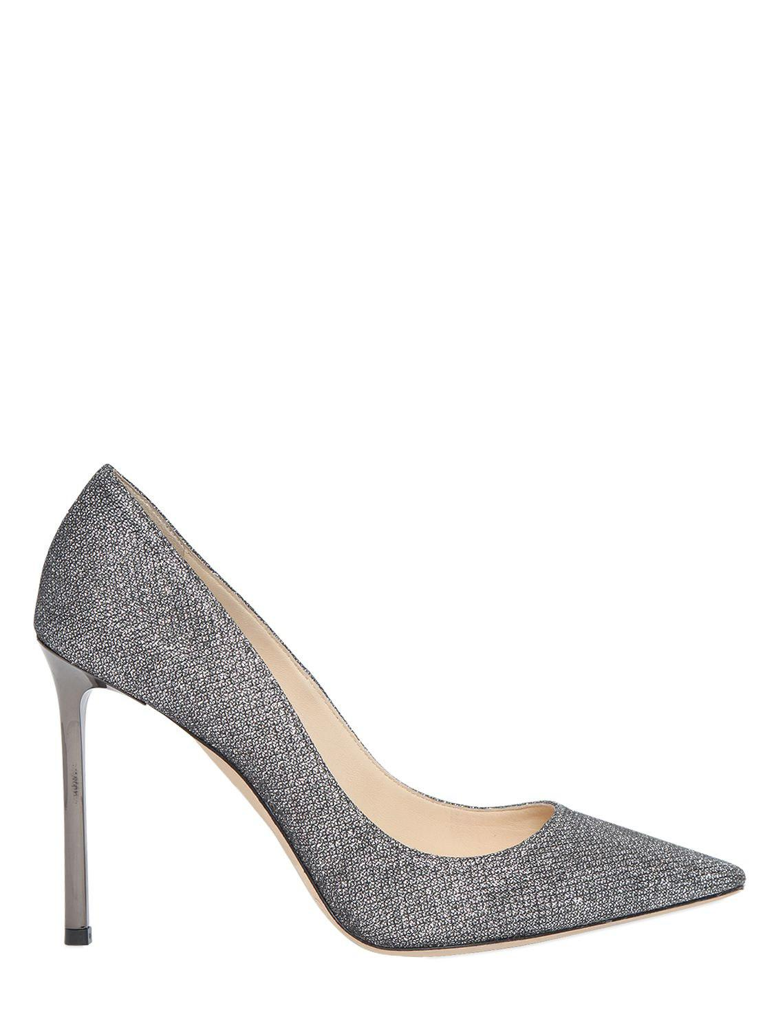 Jimmy choo 100MM ROMY GLITTERED FABRIC PUMPS IYgmWTT6