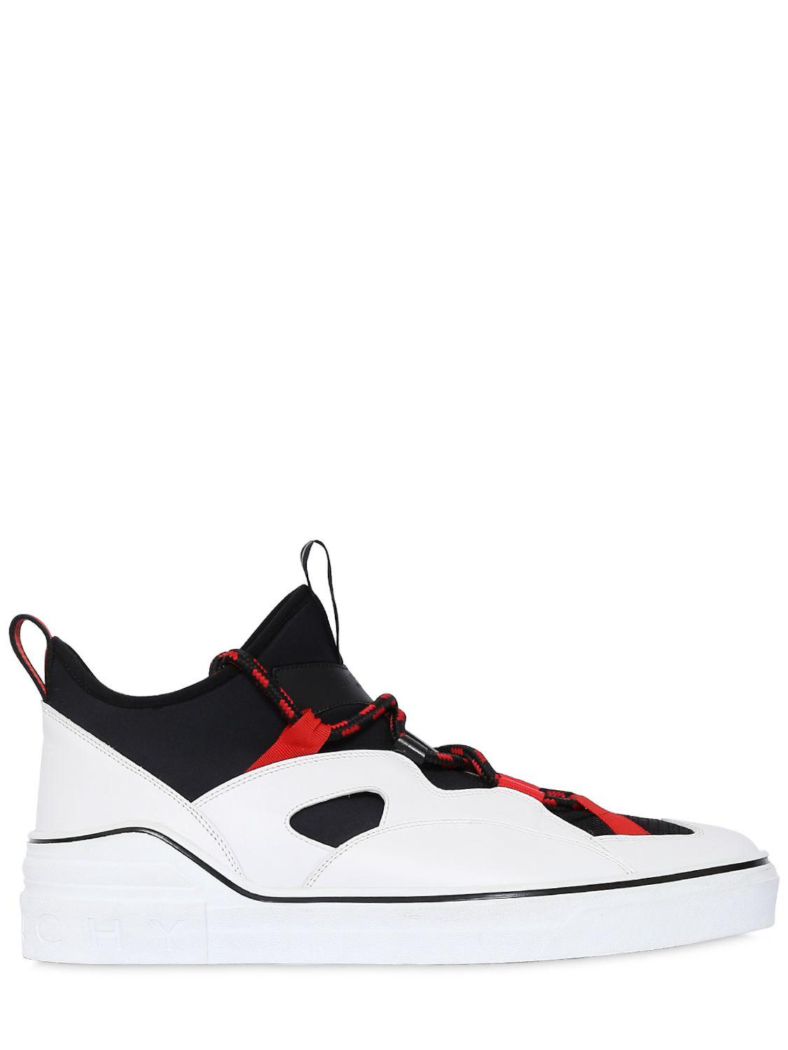 GivenchyGEORGE V NEOPRENE & LEATHER SNEAKERS