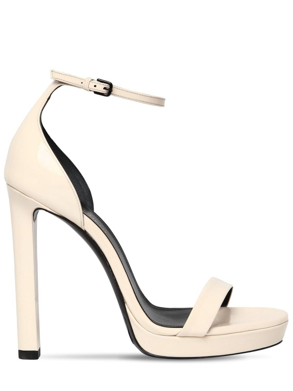 2c77e6949942 Saint Laurent. Women s 120mm Hall Patent Leather Sandals