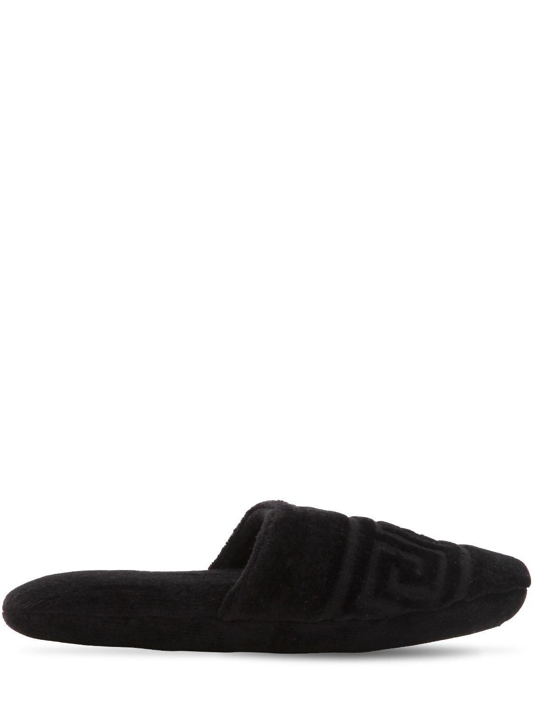 f4bddcd1559 Versace Medusa Classic Slippers in Black for Men - Lyst
