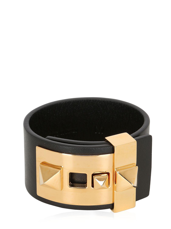 Valentino Rockstud Vitello Cuff Bracelet a6UQT9