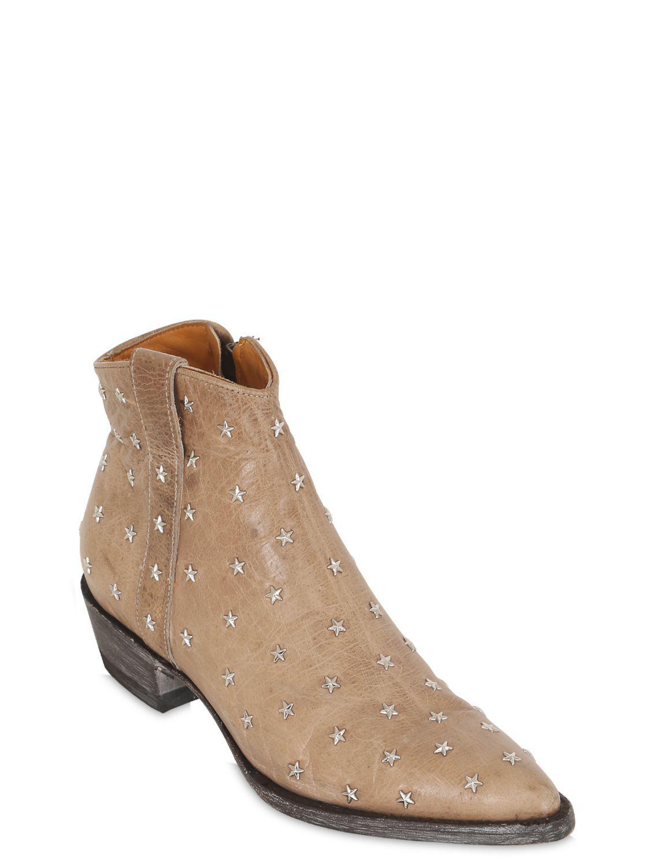 Lyst - Mexicana Stivali In Pelle Con Borchie A Stella 20mm in Brown c53d46cc9dc