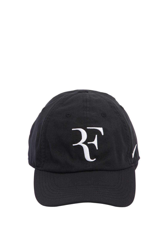 00d3df5b Nike Roger Federer Aerobill Heritage86 Hat in Black - Lyst