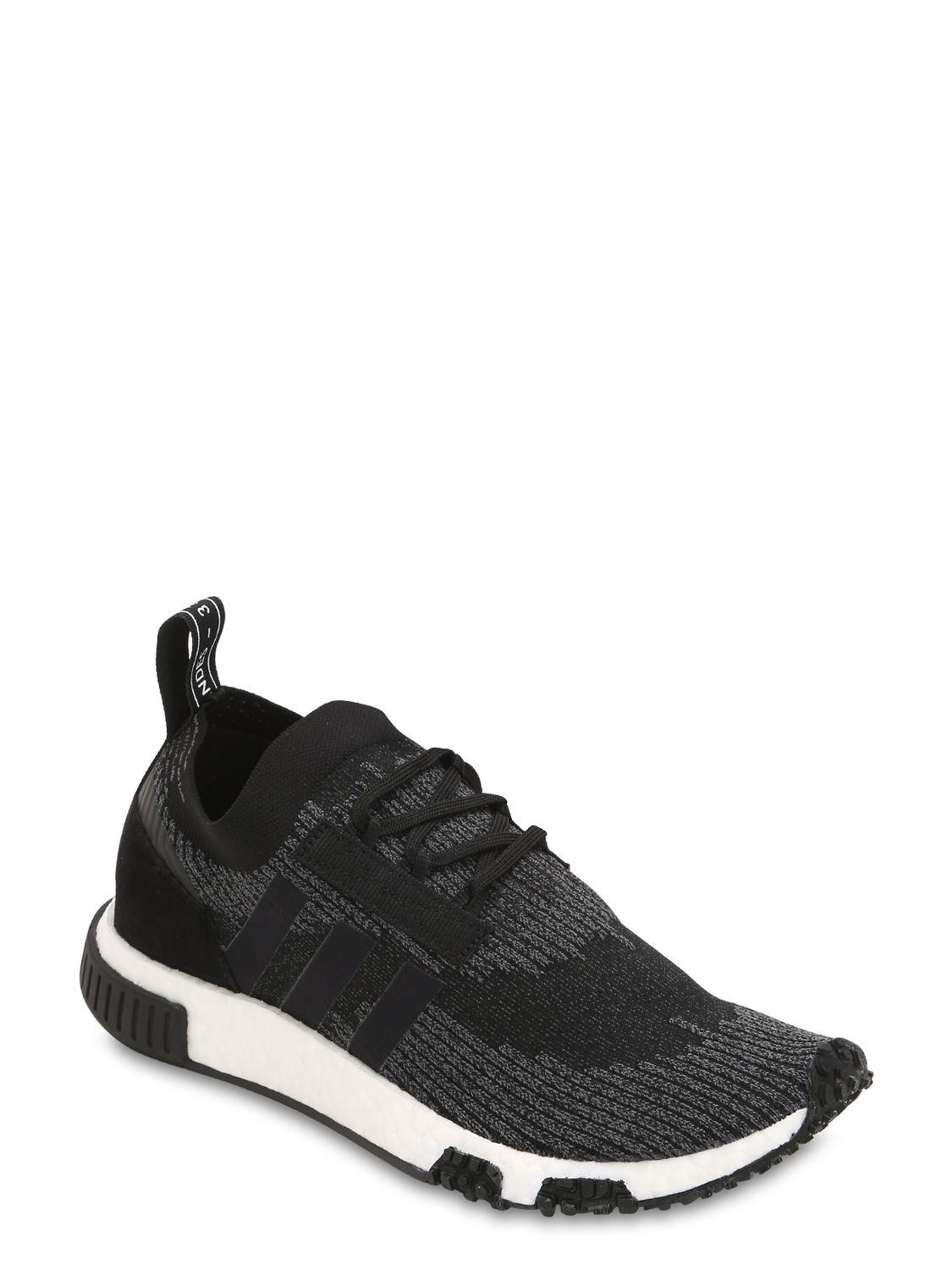 new style dbf5a 63e77 Adidas Originals Nmd Racer Primeknit Sneakers in Black for M