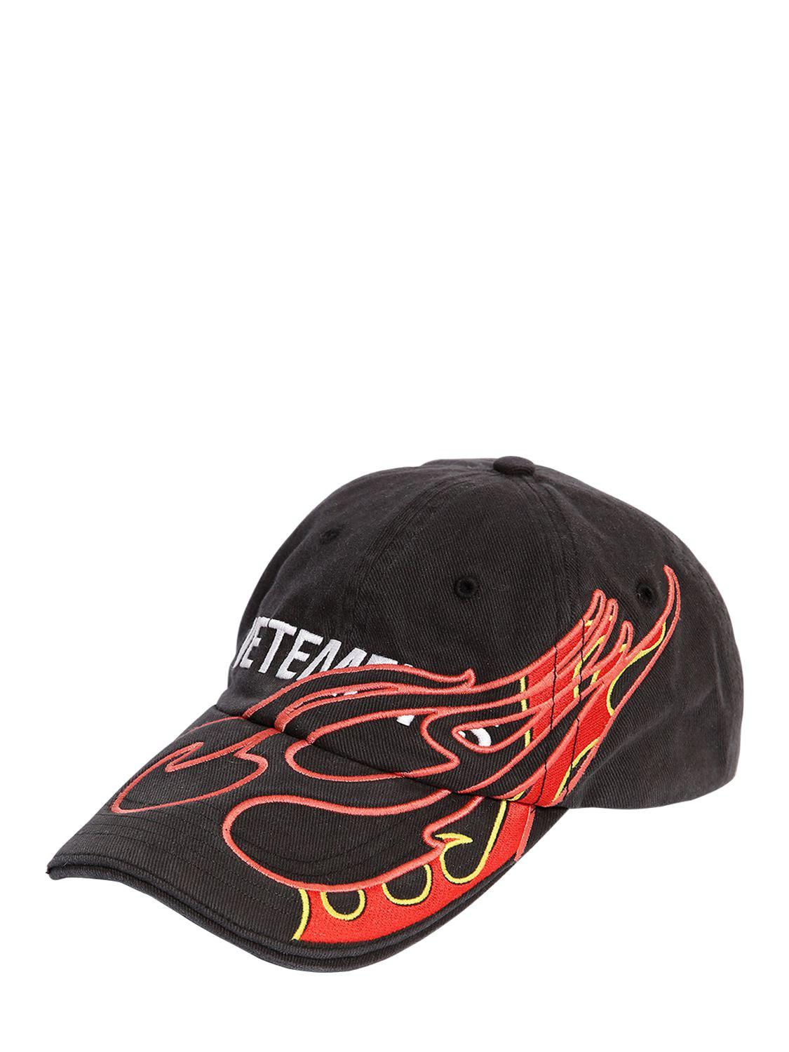 083bb6647c5b2 Vetements Printed Logo Fire Hat in Black - Save 6% - Lyst