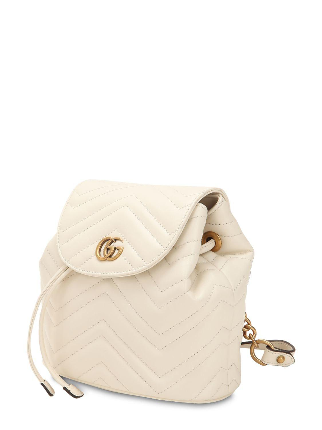 6becee80d735 ... Gg Marmont Leather Backpack - Lyst. View fullscreen