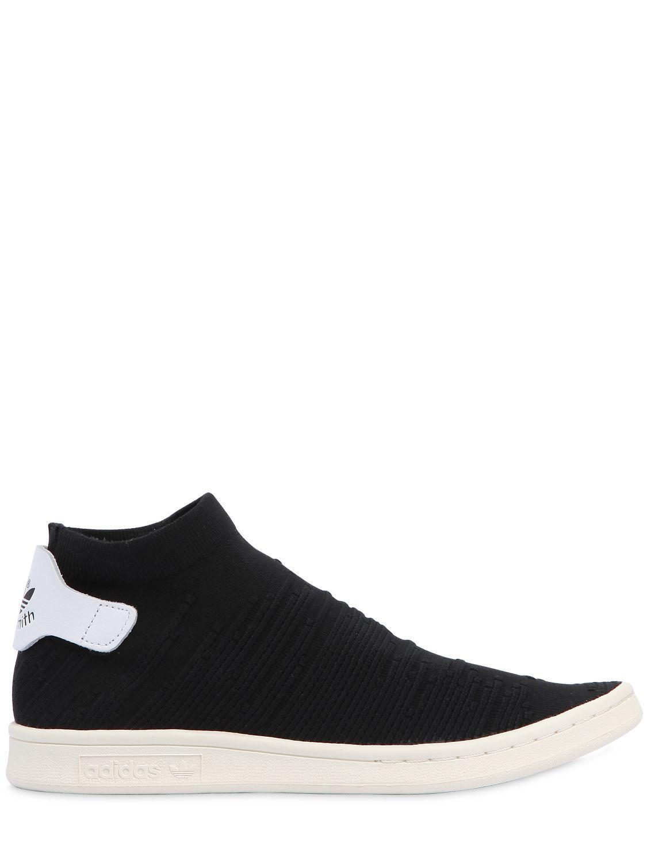 Adidas Originals Stan Smith Sock zapatilla en negro para hombres Lyst