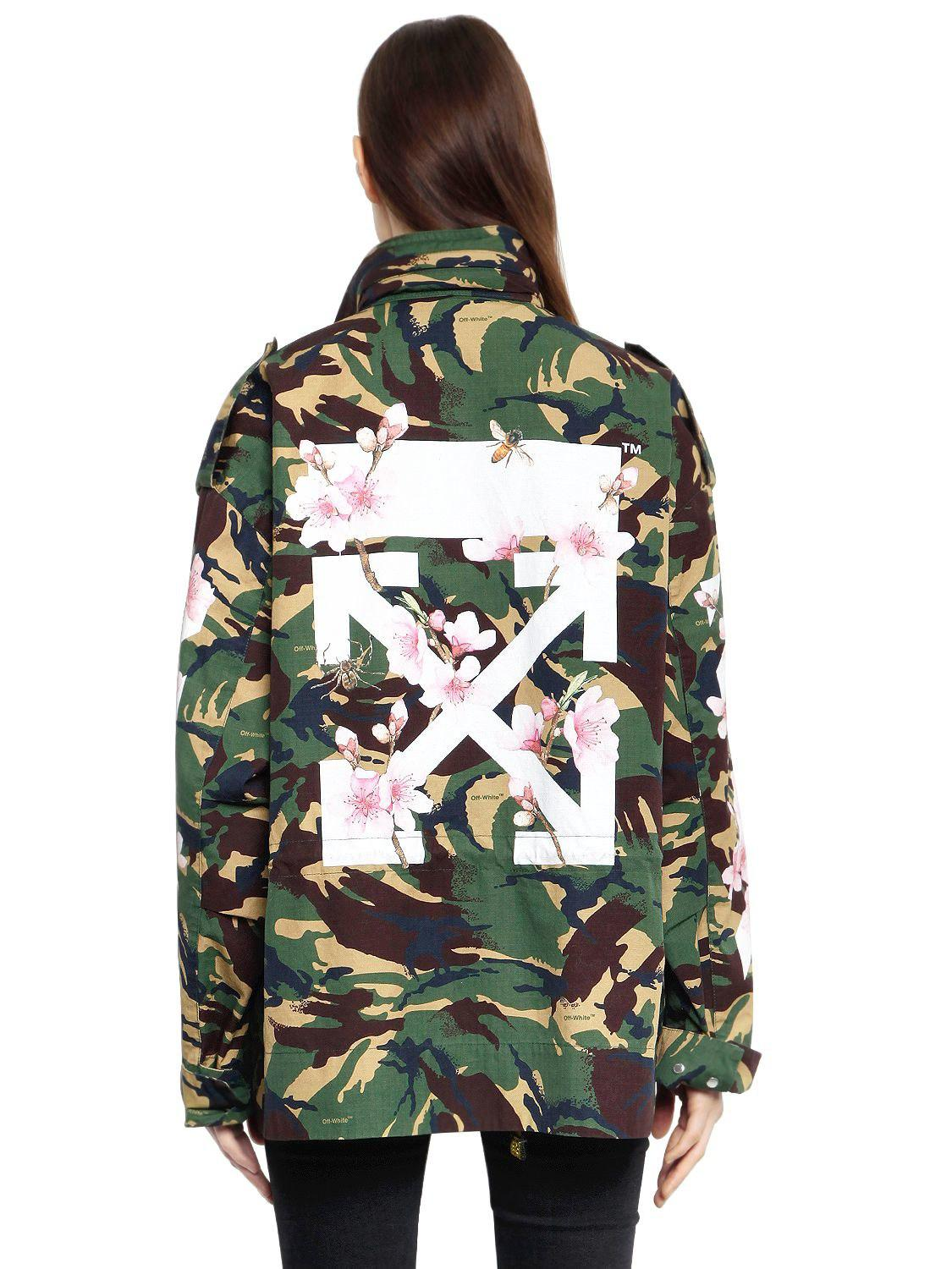 42bbfd24b20c8 Off-White c/o Virgil Abloh M65 Camo & Cherry Blossom Field Jacket in ...