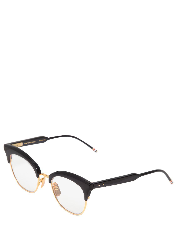 8ff2dcc2ad3 Thom Browne Acetate Cat-eye Optical Glasses in Blue - Lyst