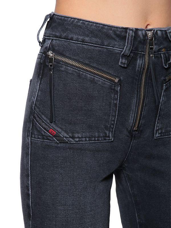 214197797f0 DIESEL - Blue Earlie High Rise Cropped Denim Jeans - Lyst. View fullscreen