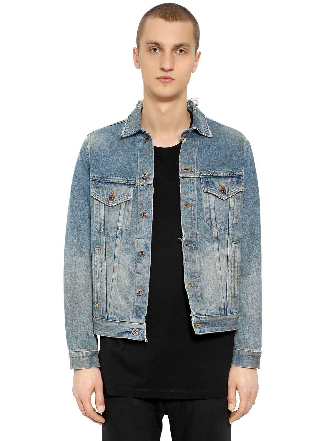 96448a856e00 Off-White c o Virgil Abloh Gradient Arrows Denim Jacket in Blue for ...