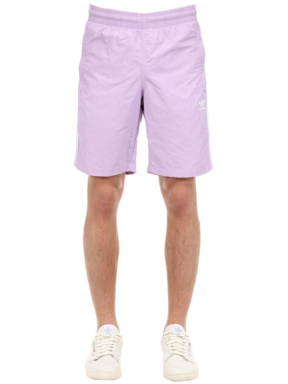 1bce0b1350 adidas Originals Adicolor Striped Swim Shorts in Purple for Men - Lyst