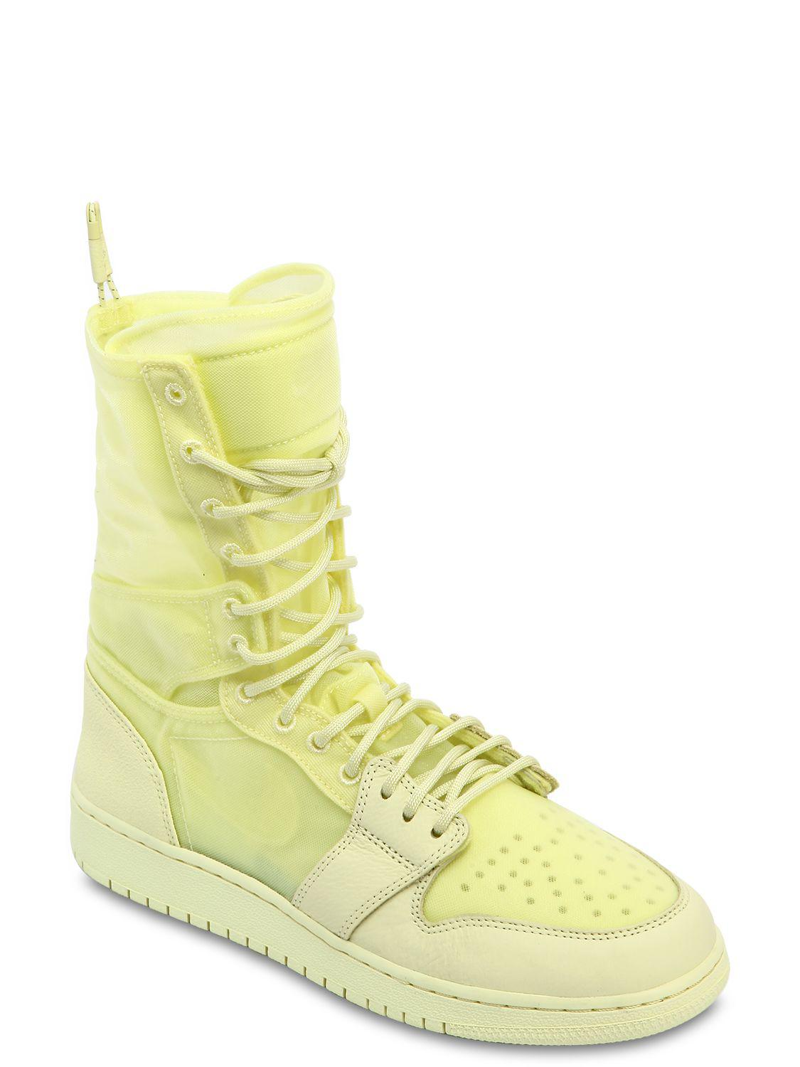 finest selection f1702 d223c Lyst - Nike Air Jordan 1 Explorer Xx Sneaker Boots in Yellow