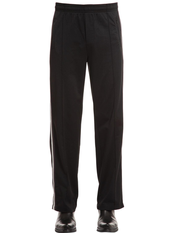OUR LEGACY Striped Satin-jersey Sweatpants - Black reysR0Lr