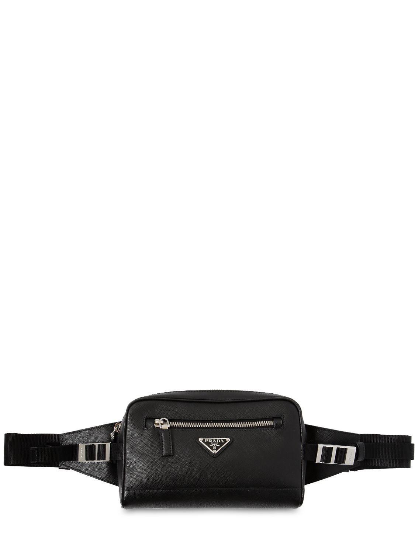 d22541924feb23 Prada - Black Saffiano Leather Crossbody Bag for Men - Lyst. View fullscreen