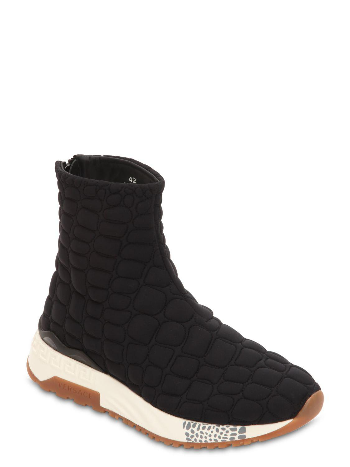 VERSACE QUILTED NYLON PADDED SOCK SNEAKERS Th3dWDmW