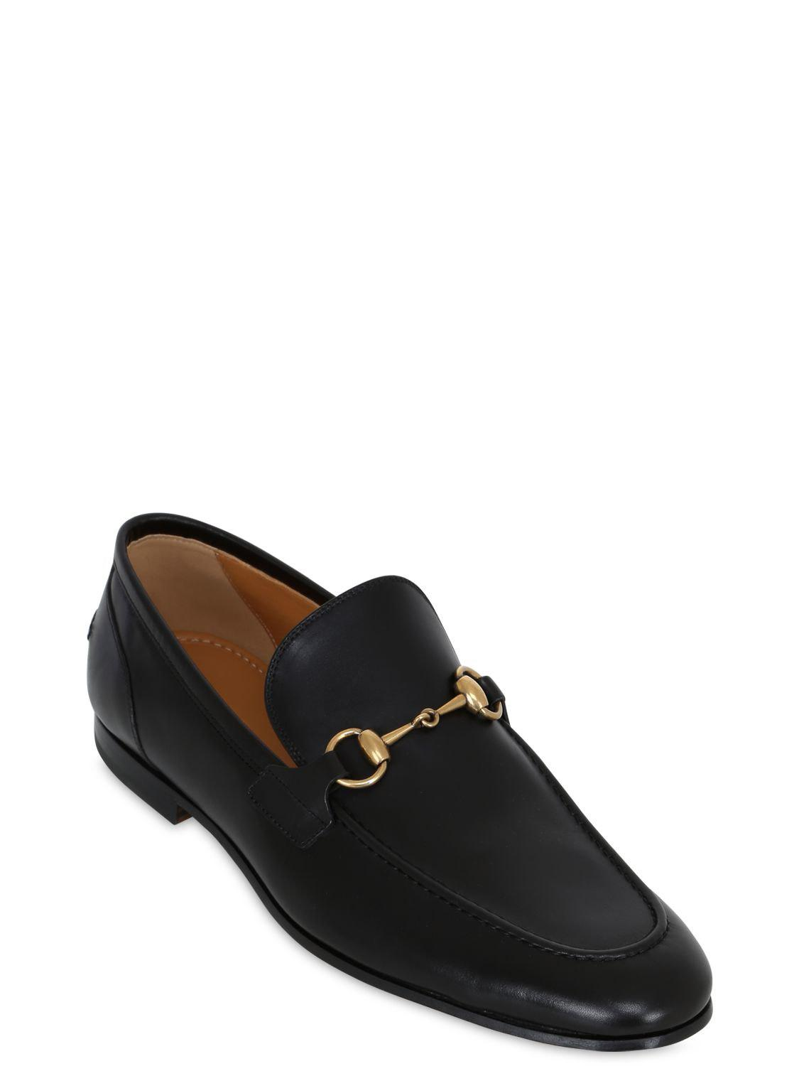 2895770dfb8 Lyst - Gucci Jordaan Horsebit Leather Loafers in Black for Men