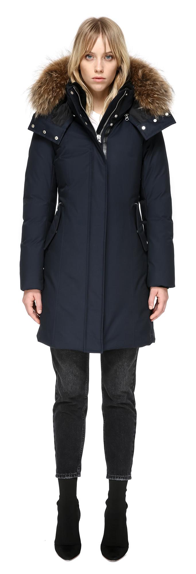 57a65cffd127a ... good lyst mackage kerry winter down coat with sheepskin and fur in navy  18d01 84adf