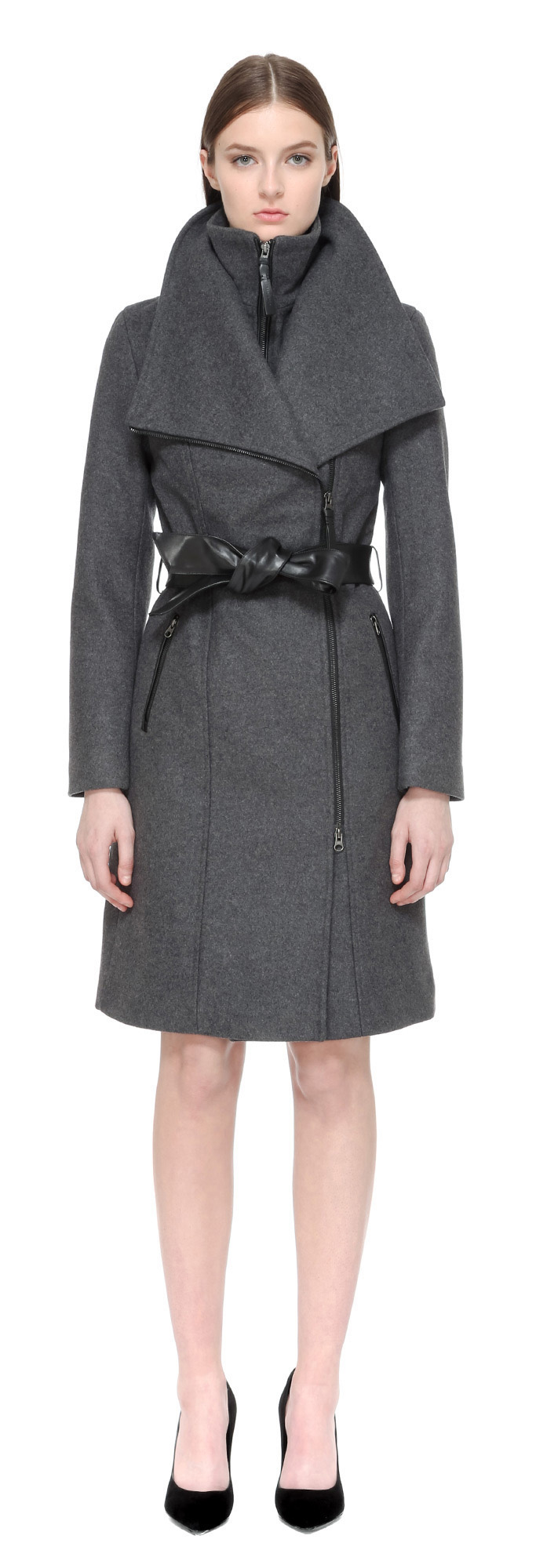 Mackage Nori Tailored Wool Coat With Wide Lapel In ...