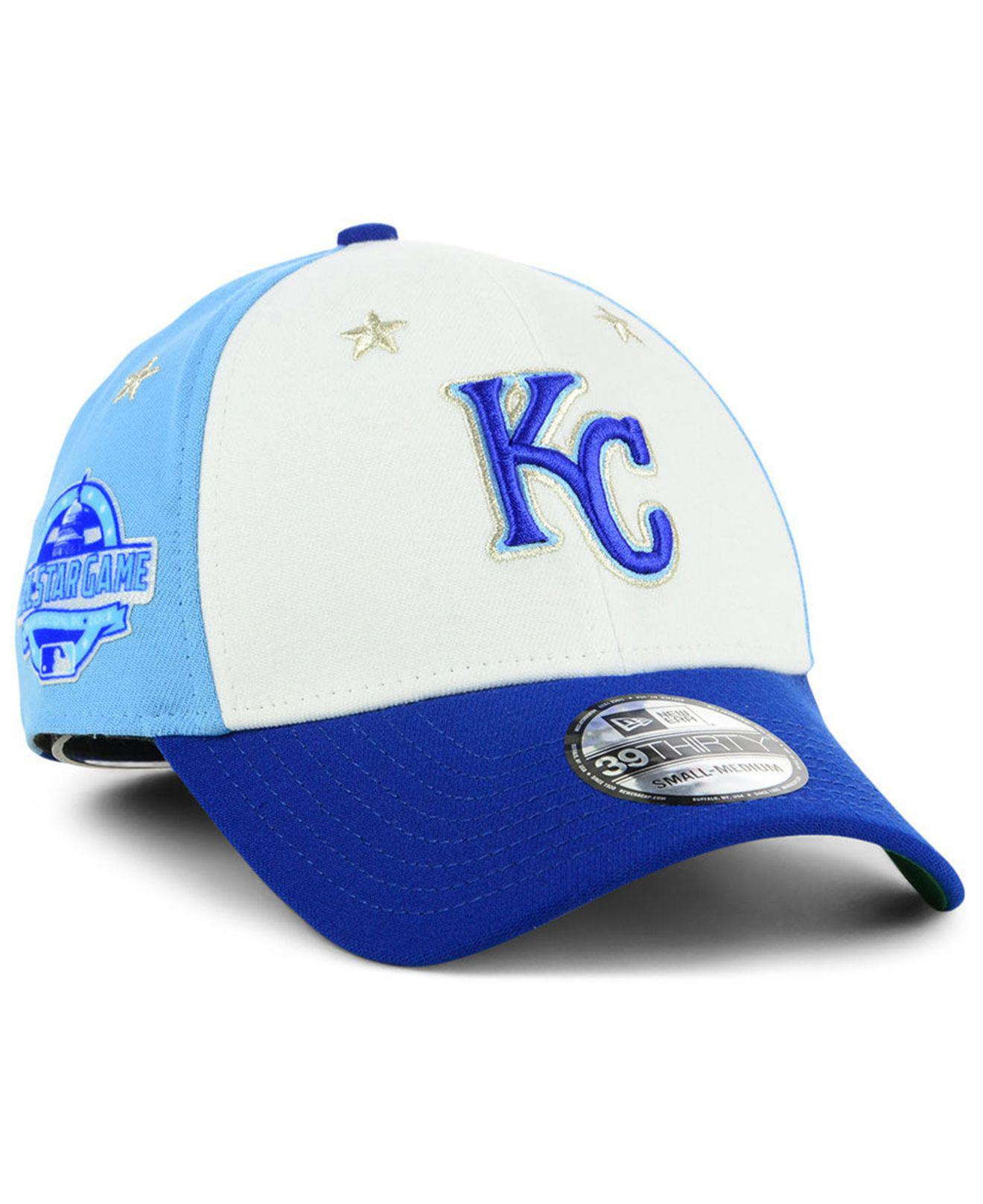 f6be3ce6e1e KTZ. Men s Blue Kansas City Royals All Star Game 39thirty Stretch Fitted Cap  2018