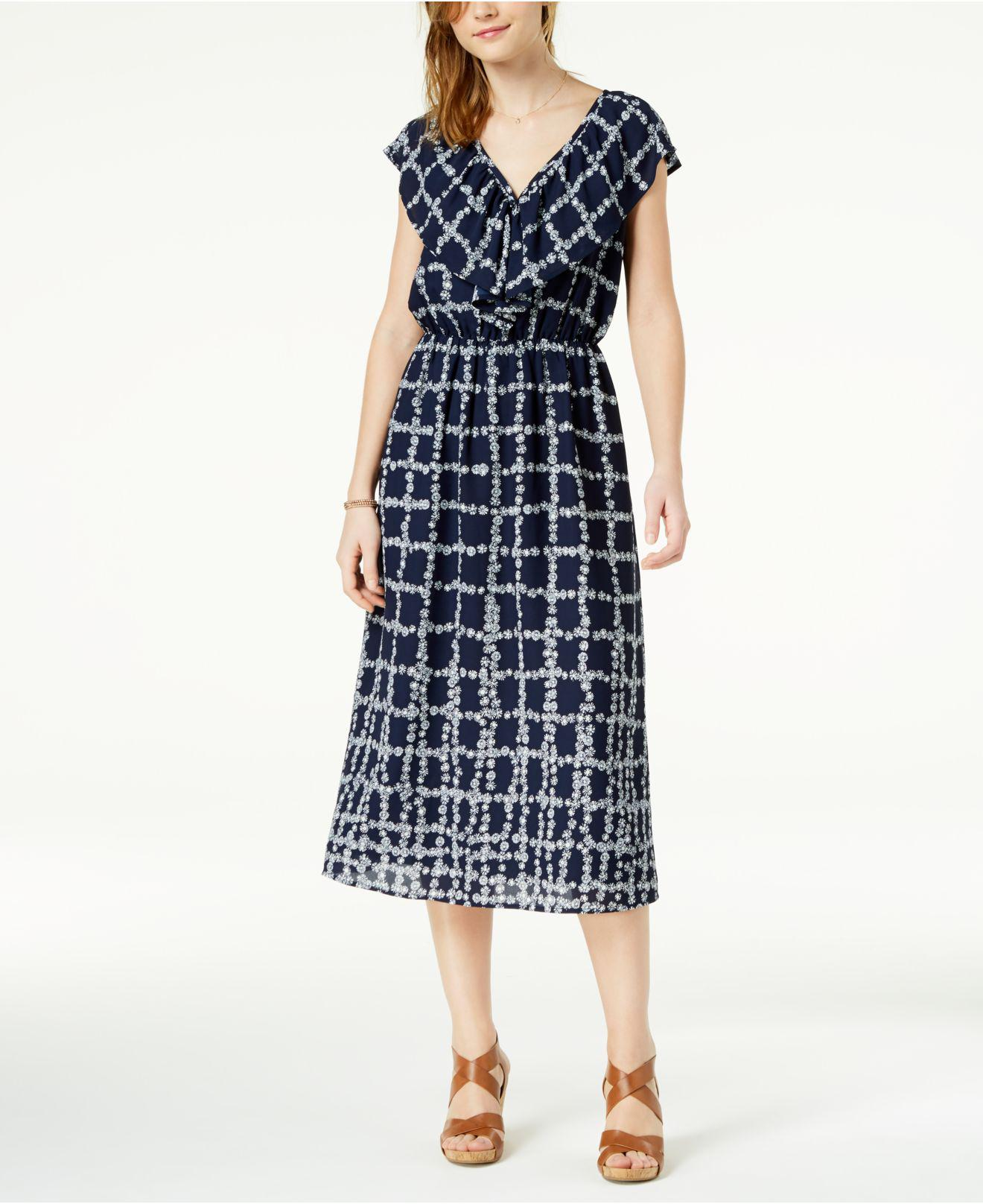 1cfb942e0313 Lyst - Maison Jules Printed Flounce Maxi Dress