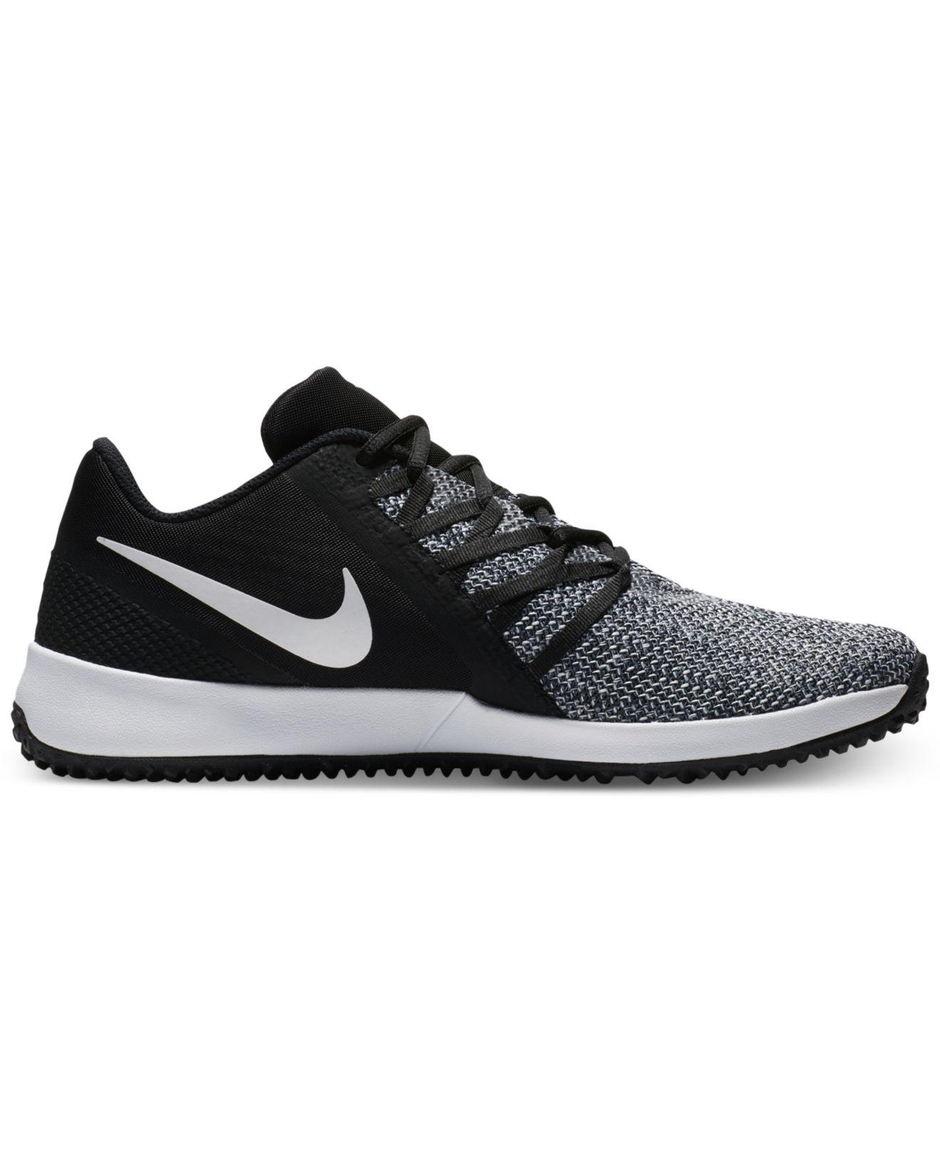 Nike. Men's Black Varsity Compete Trainer Training Sneakers From Finish Line