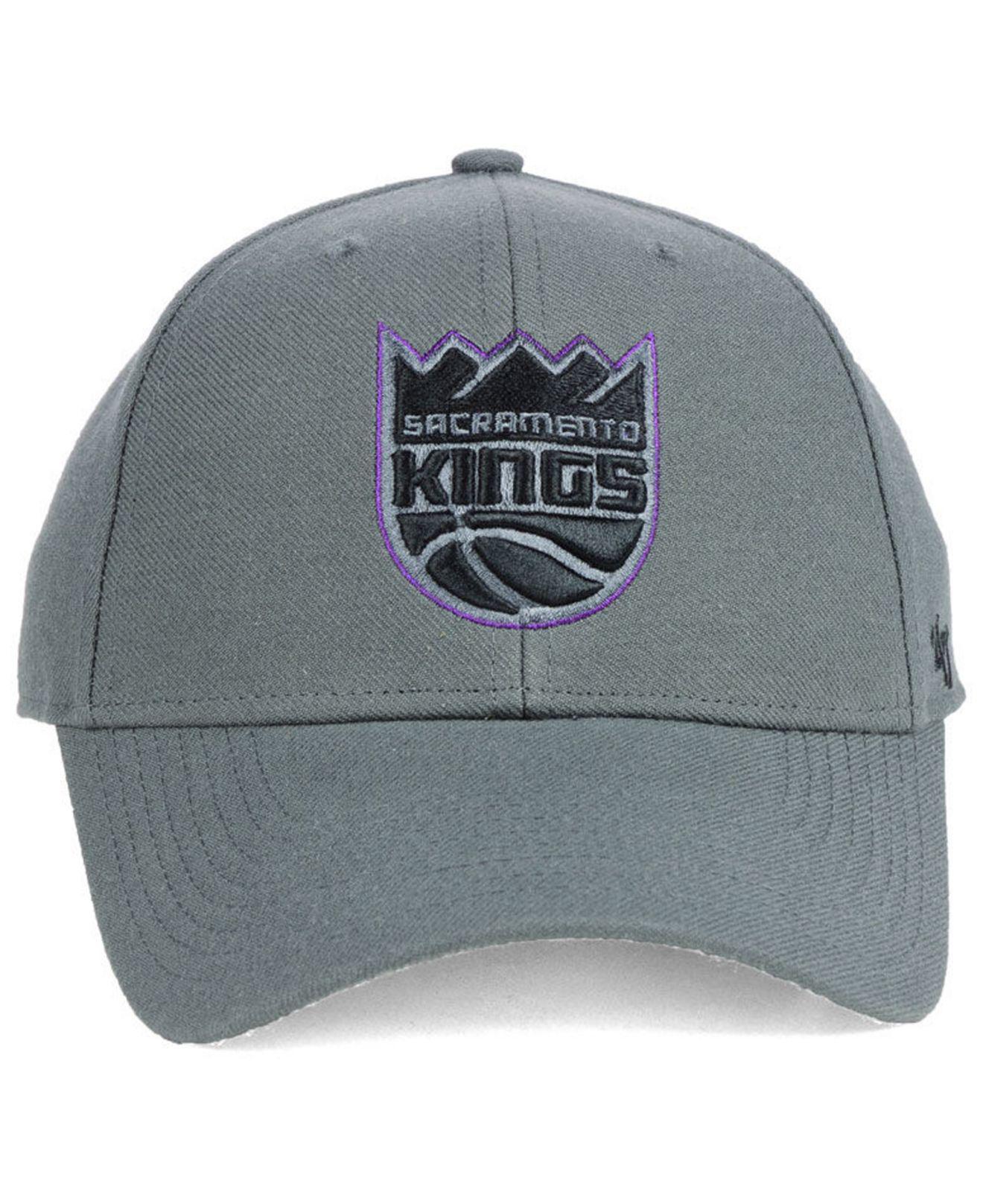 41e6fc3b3cf4a Lyst - 47 Brand Sacramento Kings Charcoal Pop Mvp Cap in Gray for Men