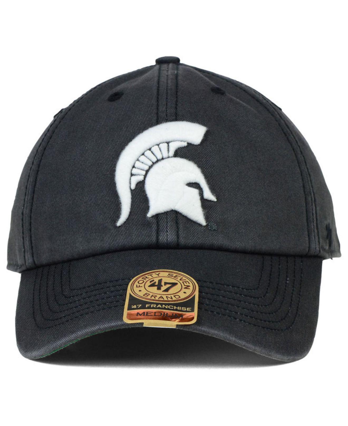 pretty nice ec23a 7e6ab ... buy lyst 47 brand michigan state spartans sachem cap in gray for men  cd581 55dc6