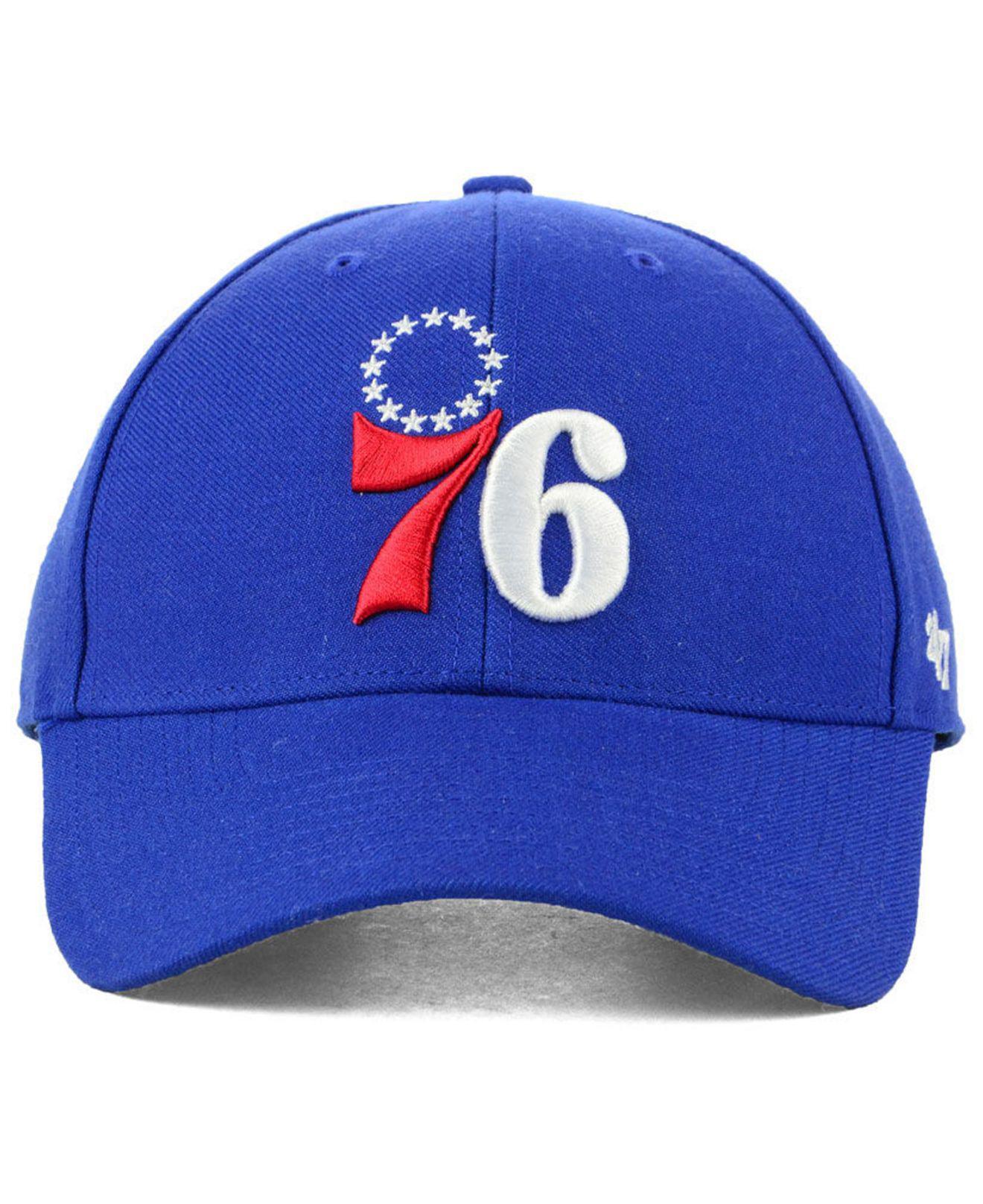 85e95a3e89f12 Lyst - 47 Brand Philadelphia 76ers Team Color Mvp Cap in Red for Men