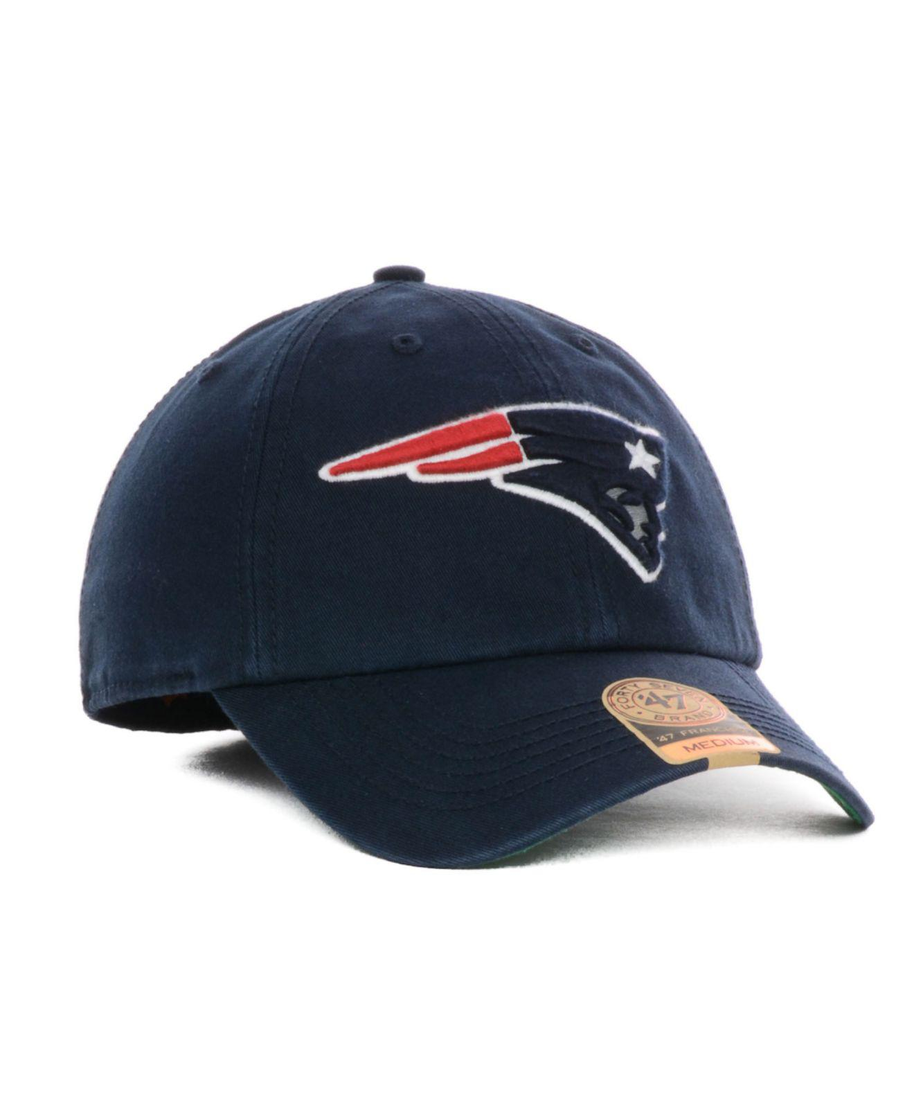 buy popular 9c14f 8aabf Lyst - 47 Brand New England Patriots Franchise Hat in Blue for Men