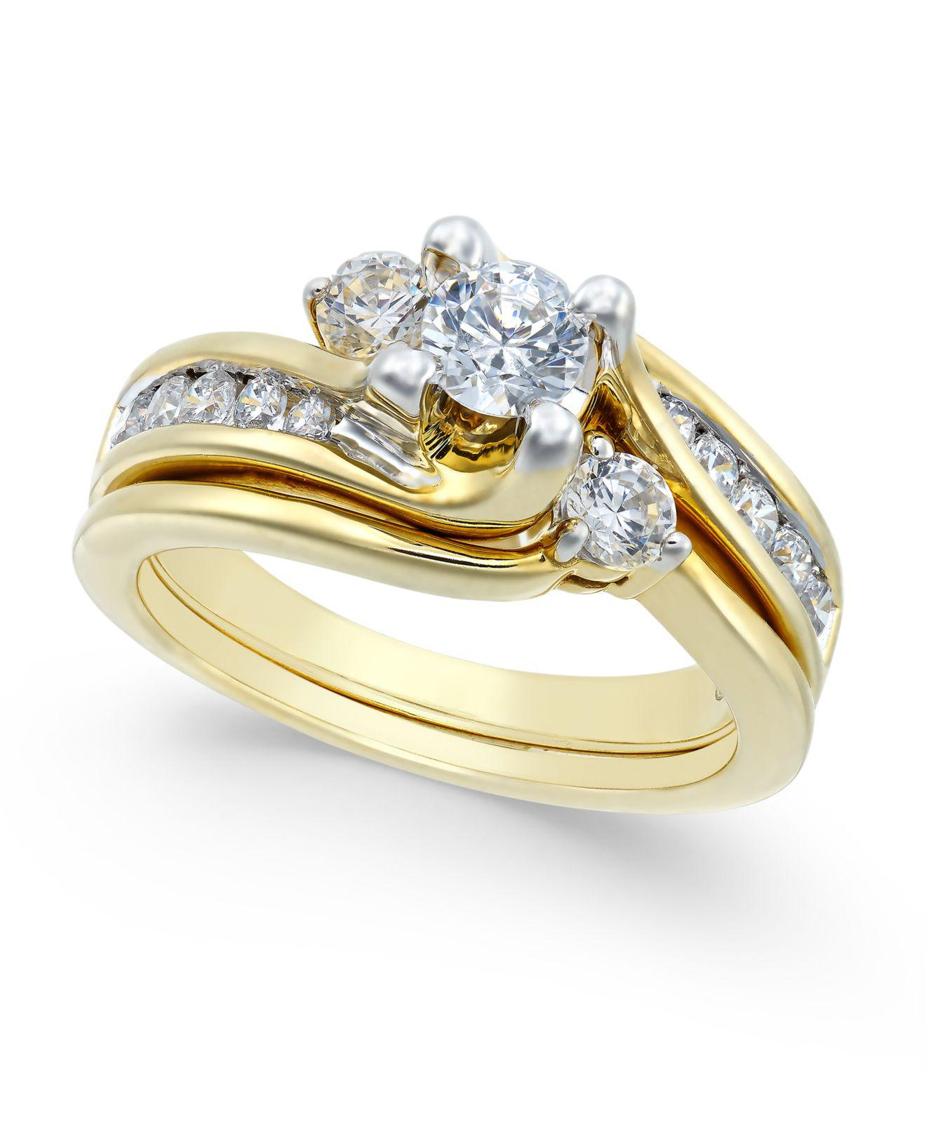 Macy'S Certified Diamond Engagement Ring Bridal Set
