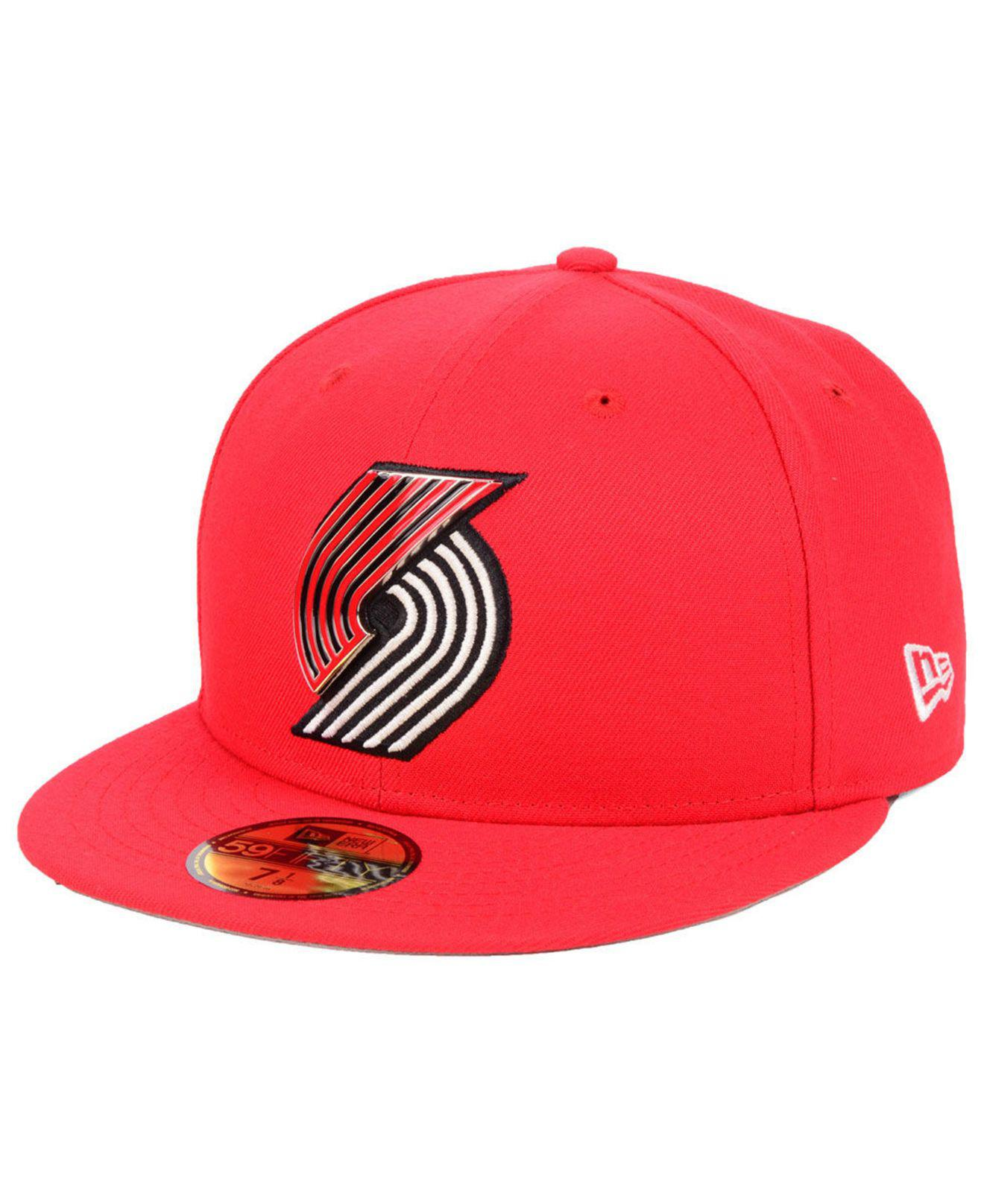 Lyst - Ktz Portland Trail Blazers Metal Mash Up 59fifty-fitted Cap ... 3a37d7e10557