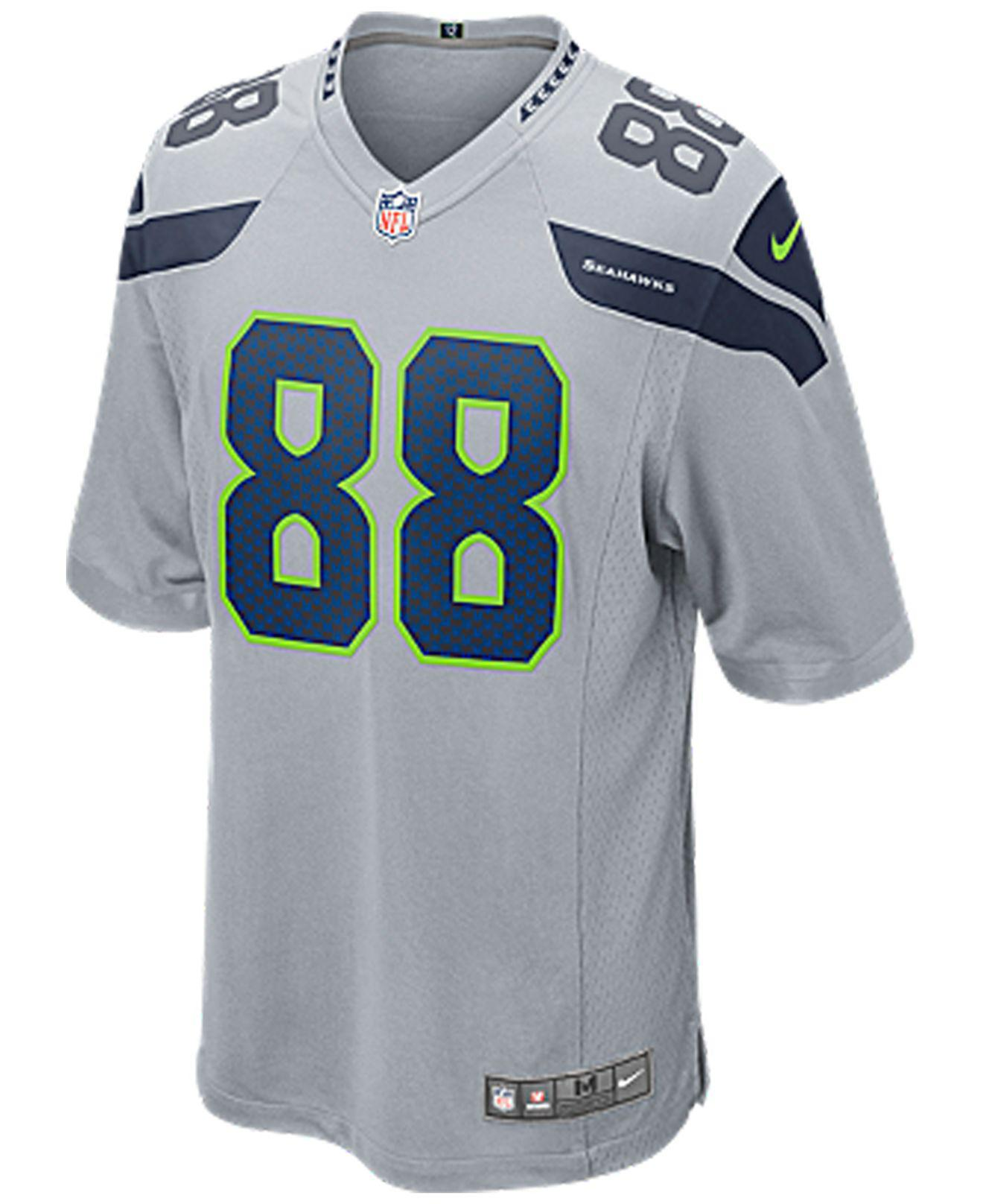 Lyst - Nike Men s Jimmy Graham Seattle Seahawks Game Jersey in Gray for Men 5ab9cf411